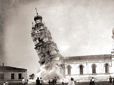Разрушение церквей большевиками