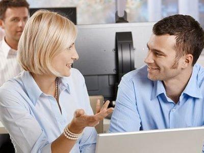 Женщина-Козерог и мужчина-Дева в работе