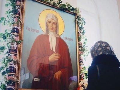 Икона Ксении Петербуржской в храме