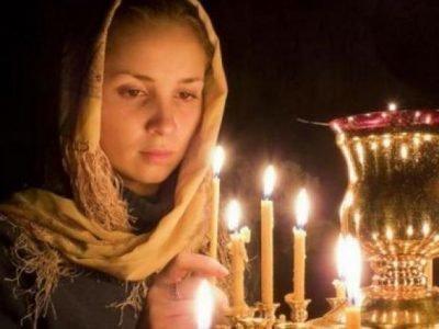 Молитва в цектви на любовь