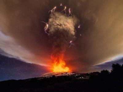 Извержение вулкана Этна в 2019 году