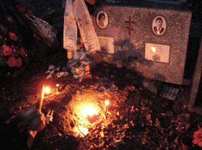 Черное венчание на кладбище