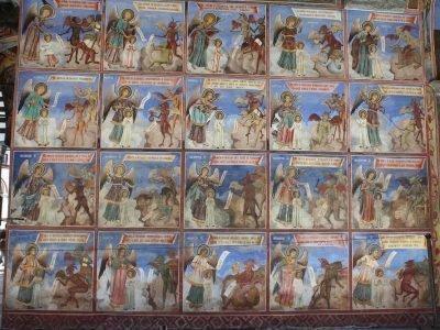 Фреска Мытарства Роспись Рильского монастыря в Болгарии