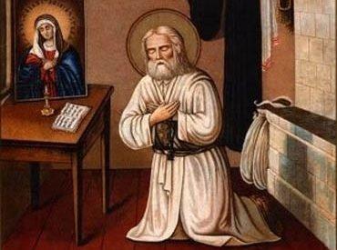 Серафим Саровский и икона Умиление