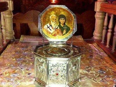 Мощи св. Киприана и Устиньи