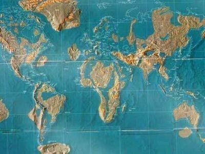Карта затопления мира по Кейси