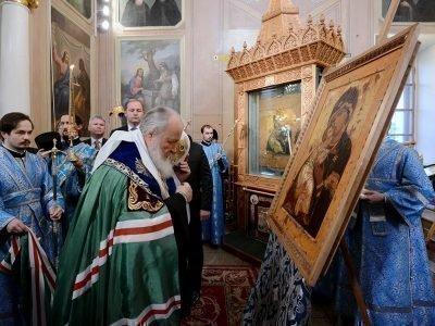 Освящение списка иконы Владимирская