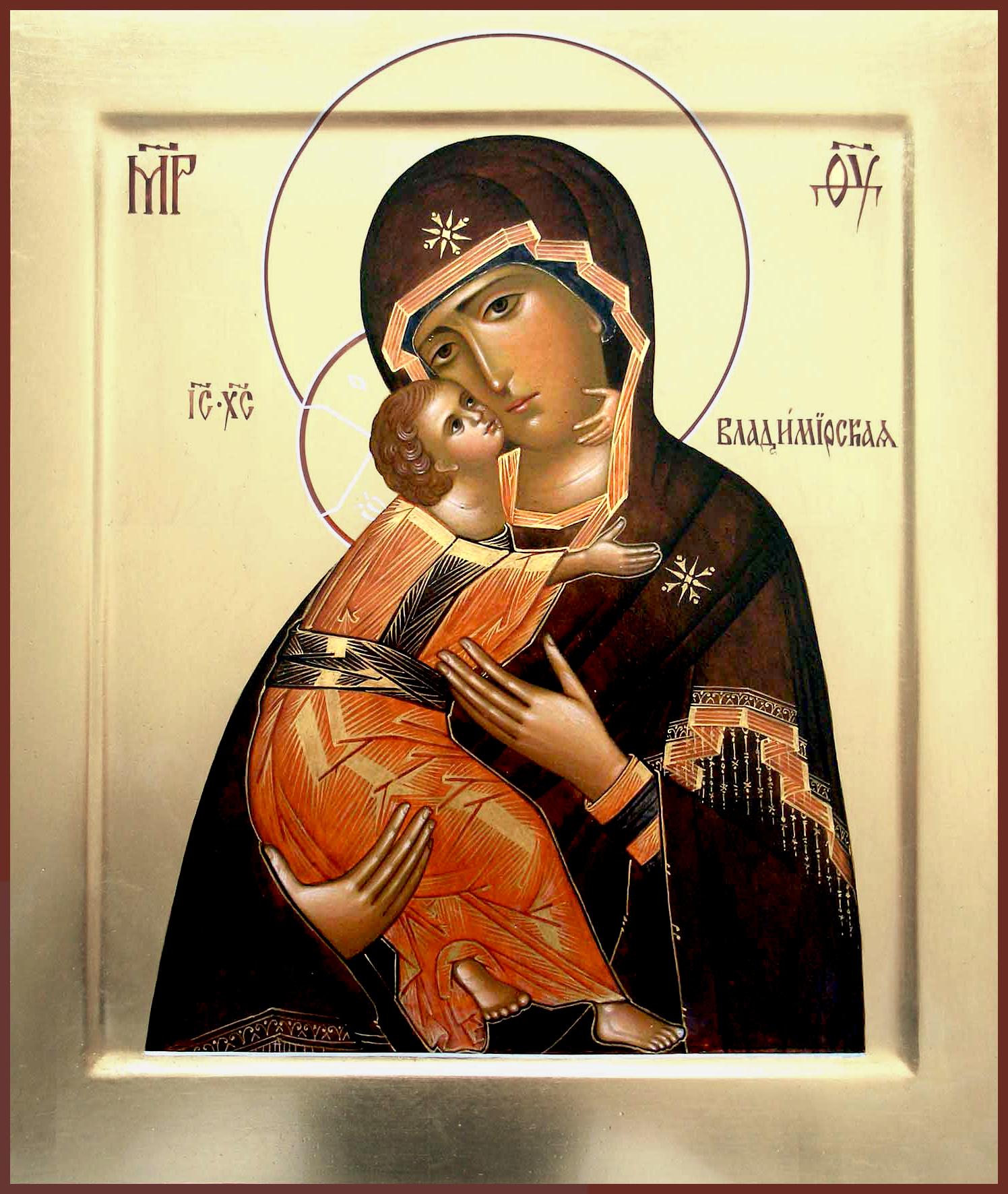 Современный список Владимирской иконы