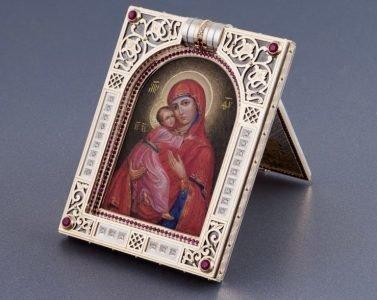 Настольная иконка Богородицы Владимирская