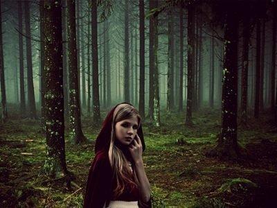 Приворот ночью в лесу