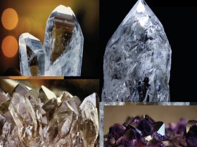 Горный хрусталь и аметист - камни Сахасрара