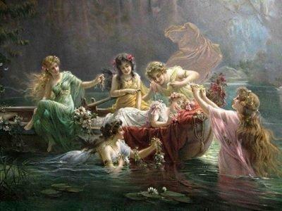 Духи воды Ундины - элементали стихии Воды