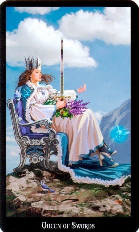 Королева Мечей. Колода Колдовское Таро Эллен Дуган