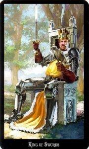 Король Мечей. Колода Колдовское Таро Эллен Дуган
