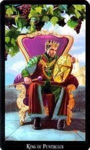 Король Пентаклей. Колода Колдовское Таро Эллен Дуган