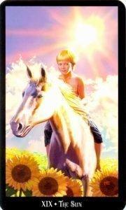 19 Солнце. Колдовское Таро Эллен Дуган