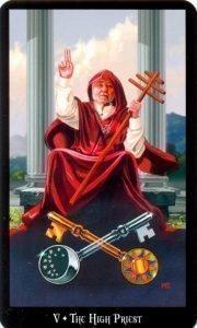 5 Верховный жрец. Колдовское Таро Эллен Дуган