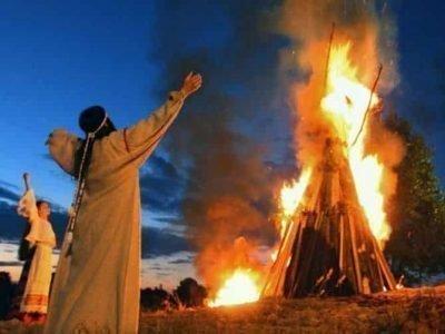 Ритуальный огонь на капище