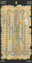 Восьмерка Жезлов. Египетское Таро