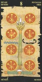 Восьмерка Пентаклей. Египетское Таро