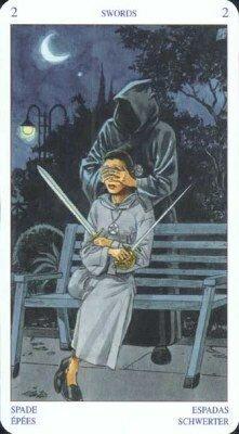Двойка Мечей. Колода Языческого Таро (Белой и Черной магии)