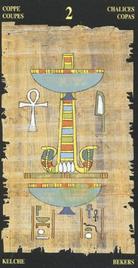 Двойка Чаш. Египетское Таро
