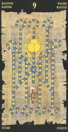 Девятка Жезлов. Египетское Таро