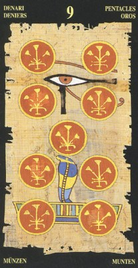 Девятка Пентаклей. Египетское Таро