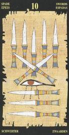 Десятка Мечей. Египетское Таро