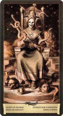 Королева Мечей. Таро Черный Гримуар (Некрономикон)