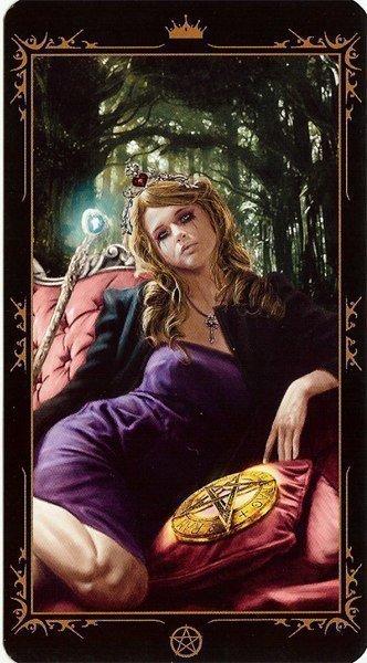 Королева Пентаклей. Колода Таро Темных Сказок
