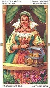 Королева Пентаклей. Таро Колесо Года