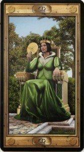 Королева Пентаклей. Таро Универсальный Ключ