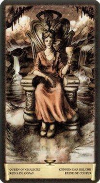 Королева Чаш. Таро Черный Гримуар (Некрономикон)