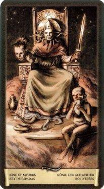 Король Мечей. Таро Черный Гримуар (Некрономикон)