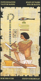 Паж Жезлов. Египетское Таро