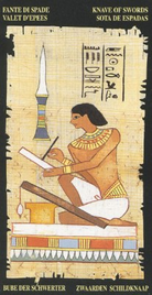 Паж Мечей. Египетское Таро