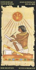 Паж Пентаклей. Египетское Таро