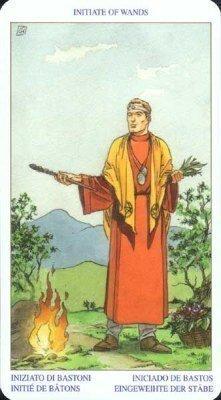 Посвященный (Королева) Жезлов. Колода Языческого Таро (Белой и Черной магии)