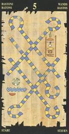 Пятерка Жезлов. Египетское Таро