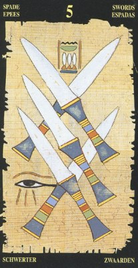 Пятерка Мечей. Египетское Таро