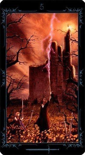 Пятерка Мечей. Колода Таро Темных Сказок
