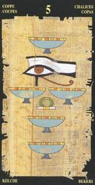 Пятерка Чаш. Египетское Таро