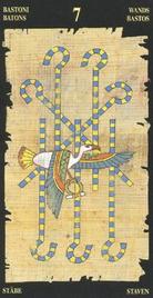 Семерка Жезлов. Египетское Таро