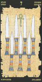 Семерка Мечей. Египетское Таро