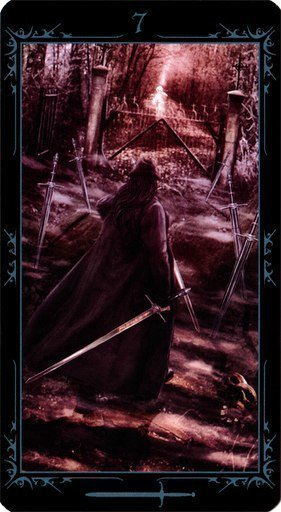 Семерка Мечей. Колода Таро Темных Сказок