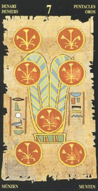 Семерка Пентаклей. Египетское Таро