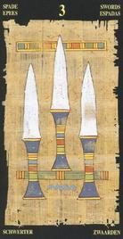 Тройка Мечей. Египетское Таро