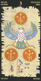 Тройка Пентаклей. Египетское Таро