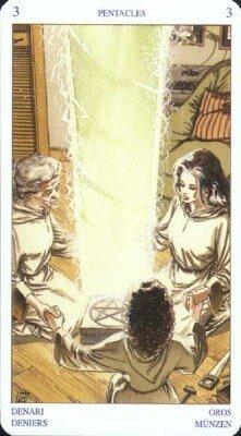Тройка Пентаклей. Колода Языческого Таро (Белой и Черной магии)